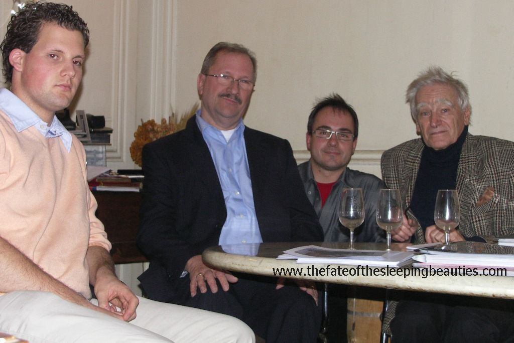 Kay Hottendorff together with father and son op de Weegh (left) visting with former Sleeping Beauties owner Michel Dovaz (photo Kay Hottendorff, 2007)